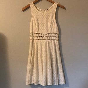 White Lacey Free People Dress
